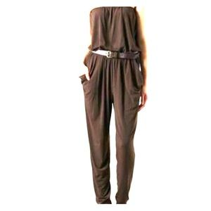 Brand New Michael Kors Chocolate Strapless Romper